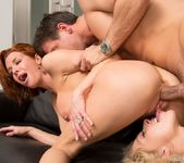 Veronica Avluv and Zoey Monroe in a FFM Anal Threesome 16