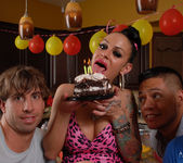 Angelina Valentine gets 2 guys for her BDay 11