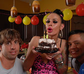 Angelina Valentine gets 2 guys for her BDay 12