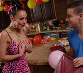 Angelina Valentine gets 2 guys for her BDay 13