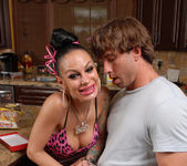 Angelina Valentine gets 2 guys for her BDay 27