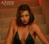 Alischa - mature woman on the stairs with her dildo 2