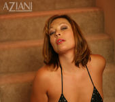 Alischa - mature woman on the stairs with her dildo 6