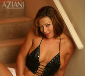 Alischa - mature woman on the stairs with her dildo 11