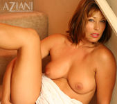 Alischa - mature woman on the stairs with her dildo 15