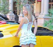 Amie - thin blonde street candids 6