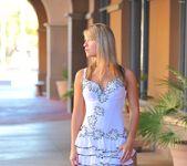 Amie - thin blonde street candids 9