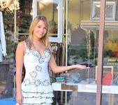 Amie - thin blonde street candids 16
