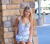 Amie - thin blonde street candids 17