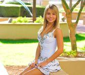 Amie - thin blonde street candids 21