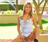 Amie - thin blonde street candids 23