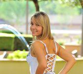 Amie - thin blonde street candids 25