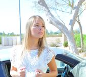 Amie - naked blonde teen in the streets 6