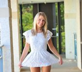 Amie - naked blonde teen in the streets 16