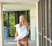 Amie - naked blonde teen in the streets 24