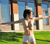 Aiden - tall thin teen naked outdoors 19