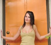 Alley - teen being naughty outdoors 8
