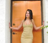 Alley - teen being naughty outdoors 9