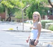 Alanna - blonde teen outdoors nudes 8
