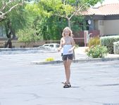 Alanna - blonde teen outdoors nudes 11