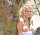 Alanna - blonde teen outdoors nudes 14