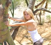 Alanna - blonde teen outdoors nudes 15
