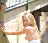 Alanna - blonde teen outdoors nudes 16