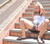 Alanna - blonde teen outdoors nudes 20