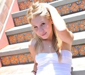 Alanna - blonde teen outdoors nudes 21
