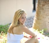 Alanna - blonde teen outdoors nudes 23
