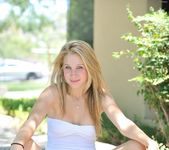 Alanna - blonde teen outdoors nudes 26