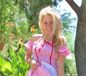 Alanna - blonde schoolgirl outdoors naked 5