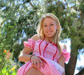 Alanna - blonde schoolgirl outdoors naked 10