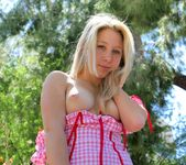 Alanna - blonde schoolgirl outdoors naked 13