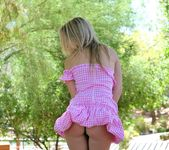 Alanna - blonde schoolgirl outdoors naked 17