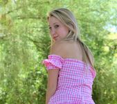 Alanna - blonde schoolgirl outdoors naked 18