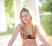 Alanna - nice teen blonde naked outdoors 8