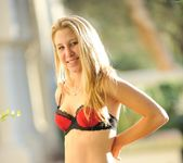 Alanna - nice teen blonde naked outdoors 24