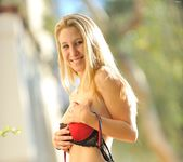 Alanna - nice teen blonde naked outdoors 26