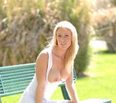Allison - blonde out in the park 17