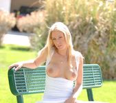 Allison - blonde out in the park 20