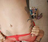 Sophia Santi fucks jenevive Jolie in fishnets stockings 4
