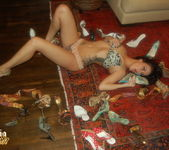 Sophia Santi getting naked with her high heels 2