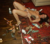Sophia Santi getting naked with her high heels 6