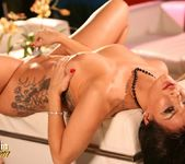 Sophia Santi penetrates her tight pussy and licks her dildo  11