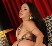 Sophia Santi loves teasing you in her leather jacket 4
