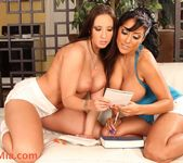 Hot Chicana Kiara Mia and big booty starlet Kelly Devine 9