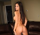 Janessa Brazil - Red Hot Lingerie on my Bosses Couch 12