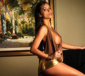Janessa Brazil - Hot Babe wearing Tight Shiny Mini Skirt 12