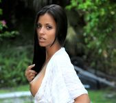 Janessa Brazil - See Through White Dress Strip down 11